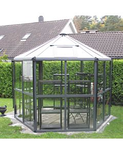Hexagonal glasshouse Empire 100  4mm glass