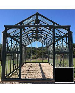 Greenhouse Four Seasons 600 black 4mm glass